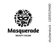 vector masquerade beauty salon... | Shutterstock .eps vector #1305519400