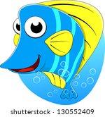 cute tropical butterfly fish | Shutterstock . vector #130552409