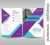 business brochure cover... | Shutterstock .eps vector #1305528316