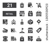 retail icon set. collection of... | Shutterstock .eps vector #1305530923