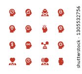 mental icon set. collection of... | Shutterstock .eps vector #1305532756