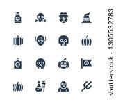 evil icon set. collection of 16 ...   Shutterstock .eps vector #1305532783