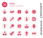 raw icon set. collection of 20... | Shutterstock .eps vector #1305532879