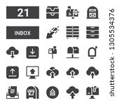 inbox icon set. collection of...   Shutterstock .eps vector #1305534376