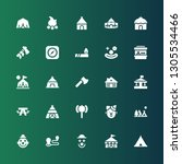 tent icon set. collection of 25 ... | Shutterstock .eps vector #1305534466