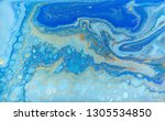 blue and gold marbling pattern. ... | Shutterstock . vector #1305534850