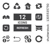 refresh icon set. collection of ... | Shutterstock .eps vector #1305535750