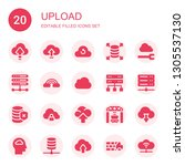 upload icon set. collection of... | Shutterstock .eps vector #1305537130