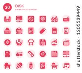 disk icon set. collection of 30 ... | Shutterstock .eps vector #1305539449