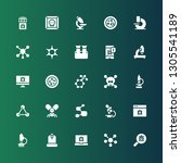microbiology icon set.... | Shutterstock .eps vector #1305541189