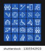 public navigation signs white... | Shutterstock .eps vector #1305542923