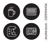 4 linear vector icon set   mug  ...   Shutterstock .eps vector #1305544456