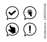 check mark with click symbol... | Shutterstock .eps vector #1305545236