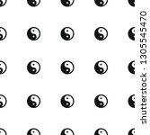 yin yang icon pattern seamless... | Shutterstock .eps vector #1305545470