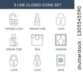 9 closed icons. trendy closed... | Shutterstock .eps vector #1305545590