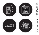 4 linear vector icon set   mp3  ... | Shutterstock .eps vector #1305546196