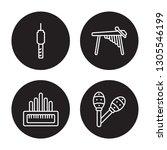4 linear vector icon set   jack ... | Shutterstock .eps vector #1305546199