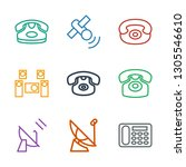9 receiver icons. trendy... | Shutterstock .eps vector #1305546610