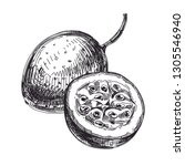 beautiful vector hand drawn... | Shutterstock .eps vector #1305546940