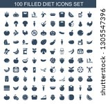 diet icons. trendy 100 diet... | Shutterstock .eps vector #1305547396