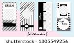 set of trendy templates for... | Shutterstock .eps vector #1305549256