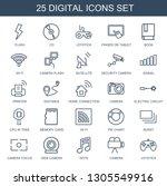 digital icons. trendy 25... | Shutterstock .eps vector #1305549916