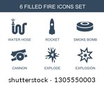 fire icons. trendy 6 fire icons.... | Shutterstock .eps vector #1305550003