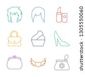 glamour icons. trendy 9 glamour ... | Shutterstock .eps vector #1305550060