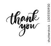 thank you. vector hand... | Shutterstock .eps vector #1305550930
