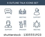 6 talk icons. trendy talk icons ...   Shutterstock .eps vector #1305551923