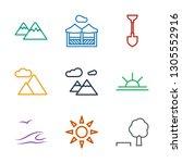 landscape icons. trendy 9... | Shutterstock .eps vector #1305552916