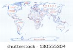 the political map of the world... | Shutterstock .eps vector #130555304