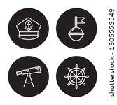 4 linear vector icon set  ... | Shutterstock .eps vector #1305553549