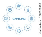 8 gambling icons. trendy... | Shutterstock .eps vector #1305553933