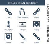 chain icons. trendy 9 chain... | Shutterstock .eps vector #1305554059
