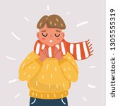 vector cartoon illustration of... | Shutterstock .eps vector #1305555319