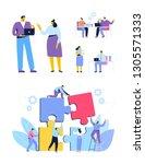 business people vector set.... | Shutterstock .eps vector #1305571333