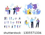 business people vector set.... | Shutterstock .eps vector #1305571336