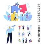 business people vector set....   Shutterstock .eps vector #1305571339