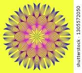 round pattern flower mandala.... | Shutterstock .eps vector #1305572050