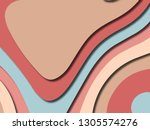 colorful carving art.paper cut...   Shutterstock . vector #1305574276