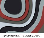 colorful carving art.paper cut... | Shutterstock . vector #1305576493