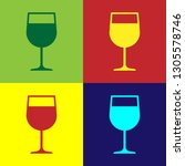color wine glass icon isolated... | Shutterstock .eps vector #1305578746