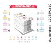 infographic design with stack... | Shutterstock .eps vector #1305591610