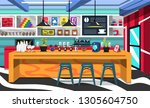 clean coffee shop room with... | Shutterstock .eps vector #1305604750
