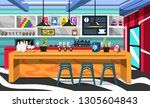 coffee shop room with coffee... | Shutterstock .eps vector #1305604843