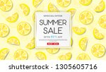 Summer Sale Banner With Lemons...