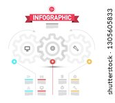 infographic elements with cogs  ... | Shutterstock .eps vector #1305605833
