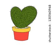 Heart Shape Cactus Isolate In...