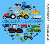 agricultural vehicle farm...   Shutterstock .eps vector #1305612649
